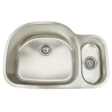 "Premium Series 31.5"" x 21.75"" Double Bowl Undermount Kitchen Sink"