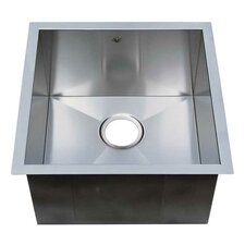 "Chef Pro 19"" x 19"" Zero Radius Single Bowl Undermount Kitchen Sink"