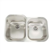 Premium Series Double Bowl Equal Width Undermount Kitchen Sink