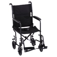 "GO! Mobility Steel 19"" Transport Bariatric Wheelchair"