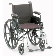 Lightweight Wheelchair with Detachable Arm, Swing Away Footrest, and Black Nylon Upholstery