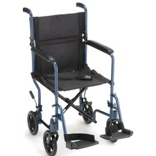 GO! Mobility Aluminum Ultra Lightweight Bariatric Transport Wheelchair