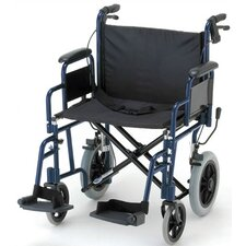 "GO! Mobility Aluminum Heavy Duty 22"" Ultra Lightweight Transport Bariatric Wheelchair"