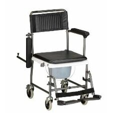 <strong>Nova Ortho-Med, Inc.</strong> Drop Arm Commode Transport Chair with Wheels