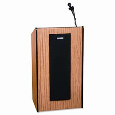 Adjustable Presidential Plus Lectern, 25-1/2w x 20-1/2d x 36 to 44h, Medium Oak