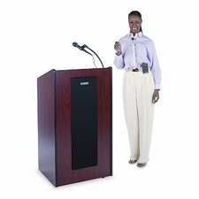 <strong>AmpliVox Sound Systems</strong> Presidential Plus Wireless Sound Lectern, 25-1/2w x 20-1/2d x 46-1/2h, Mahogany