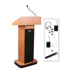 <strong>AmpliVox Sound Systems</strong> Full Height Wireless Sound Column Lectern
