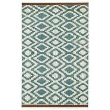 Nomad Turquoise Geometric Rug