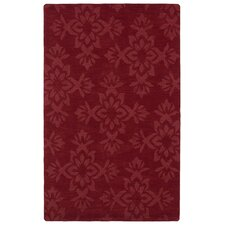 Imprints Classic Red Geometric Rug