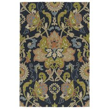 Home and Porch Navy Indoor/Outdoor Rug