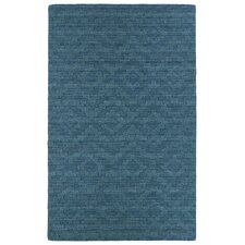 Imprints Modern Turquoise Geometric Rug