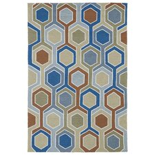 Home and Porch Chino Geomatric Indoor/Outdoor Rug