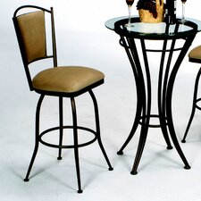 "David 30"" Swivel Bar Stool with Cushion"