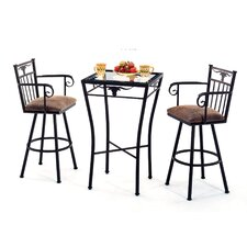Longhorn 3 Piece Counter Height Pub Table Set
