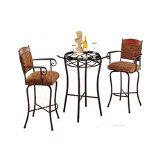 Madera 3 Piece Pub Table Set