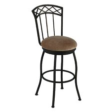 "Porterville 34"" Swivel Bar Stool with Cushion"