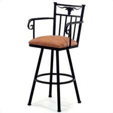 "Longhorn 30"" Bar Stool with Cushion"