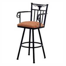 "Longhorn 34"" Bar Stool with Cushion"