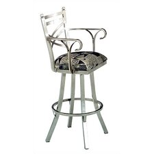 """New Rochelle 30"""" Bar Stool with Cushion"""