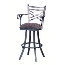 "New Rochelle 26"" Stool w/ Arms"