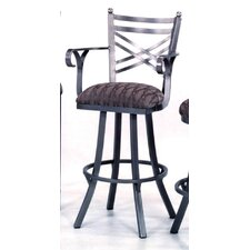 "New Rochelle 30"" Bar Stool with Cushion"