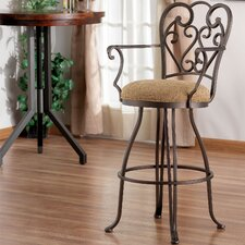 "Verona 34"" Swivel Bar Stool with Cushion"