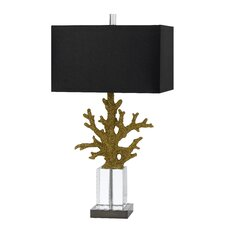 "3 Way Coral 29"" H Table Lamp with Square Shade"