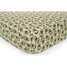Basics Monkey Fitted Sheet
