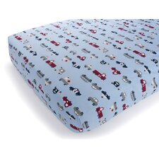 Basics Fire Truck Fitted Sheet