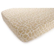 Basics Giraffe Fitted Sheet