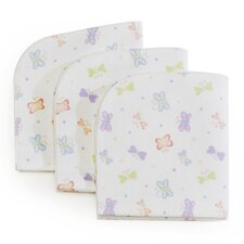 "3 Piece Basics Butterfly Waterproof 0.75"" LapMattress Pad Set"