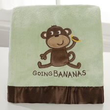 Basics Going Bananas Velour Blanket