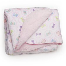 Basics Butterfly Velour Sherpa Blanket