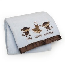 Basics Silly Monkey Embroidered Boa Blanket