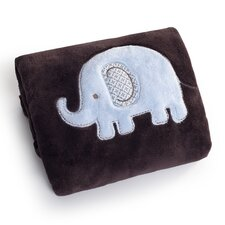 Basics Elephant Embroidered Boa Blanket