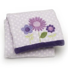 Basics Floral Printed Embroidered Blanket