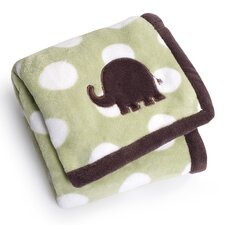Basics Elephants Printed Embroidered Blanket