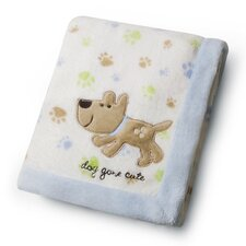 Basics Dog Gone Cute Printed Embroidered Blanket
