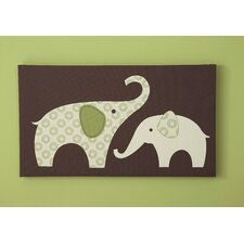 Green Elephant Canvas Wall Art