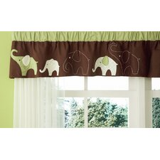 Green Elephant Curtain Valance