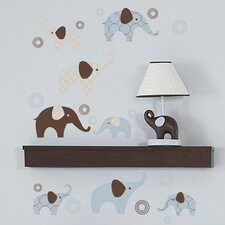 Blue Elephant Wall Decal