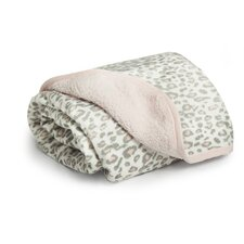 Basics Cheetah Velour Sherpa Blanket