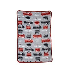 Fire Truck Printed Coral Fleece Blanket