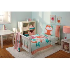 Too Cute To Hoot 4 Piece Toddler Bedding Set