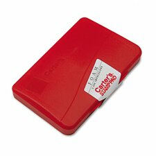 Foam Stamp Pad, 4.25w x 2.75d, Red