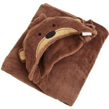 Basics Monkey Hooded Blanket