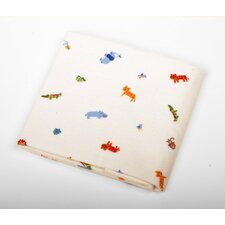 "Basics Animal Waterproof Flannel 6"" Bassinet Mattress Pad"