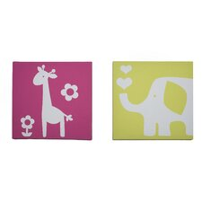 Safari Brights Canvas Wall Art - 2 Piece