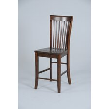 Contemporary Counter Height Slat Back Chair