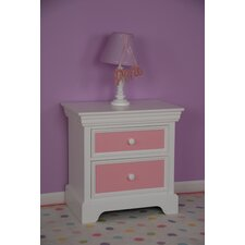 Color Box 2 Drawer Nightstand